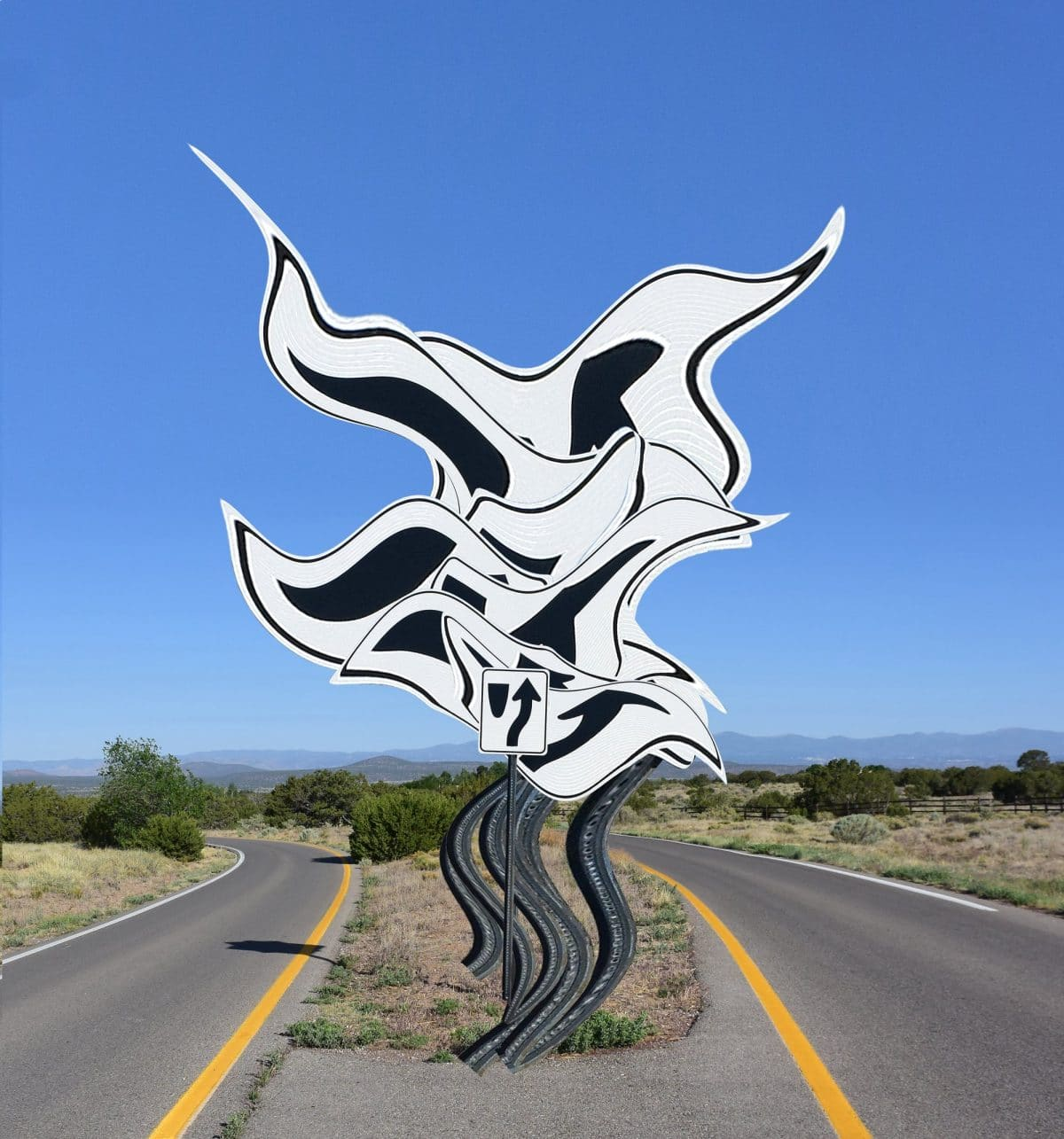 Intersection, Michael Jantzen, Road closed, art, culture, roadsigns