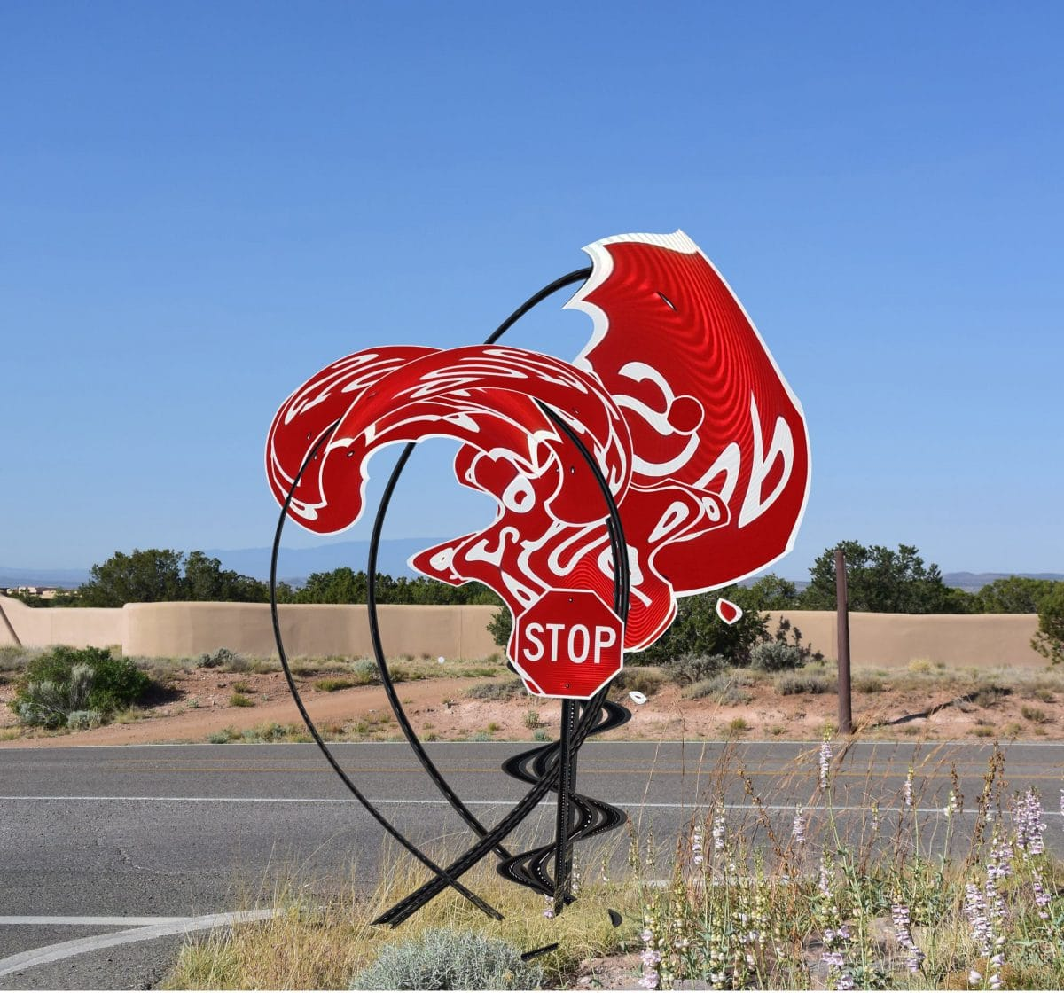 Intersection, Michael Jantzen, Road closed, art, culture, roadsigns