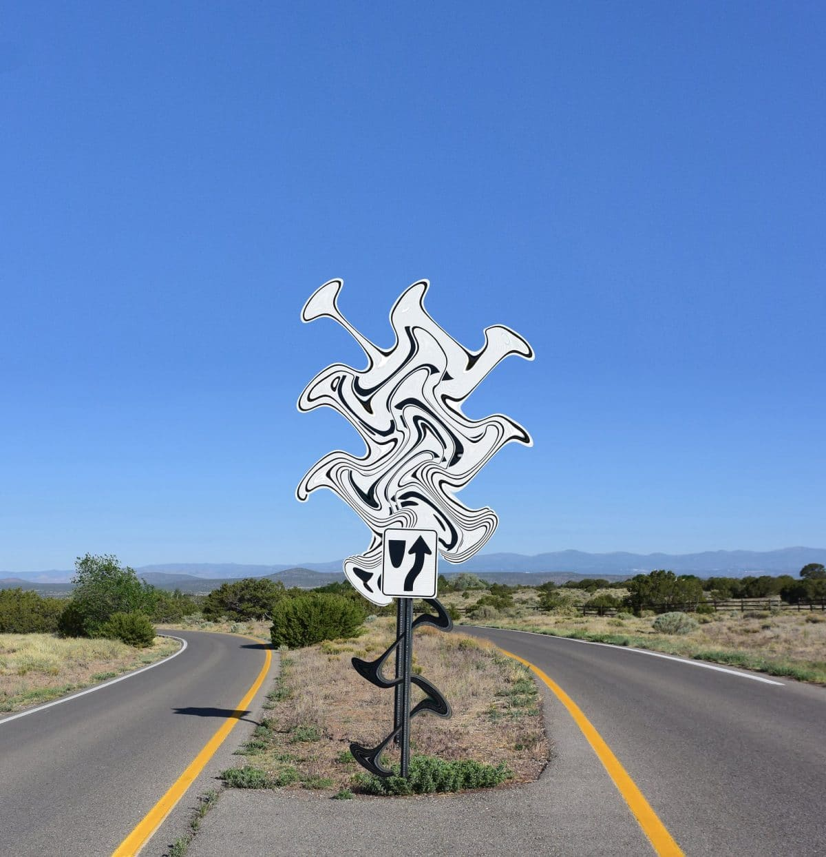 Intersection, Michael Jantzen, Road closed, art, culture